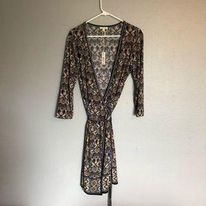 Max Studio wrap dress. 3/4 sleeves.